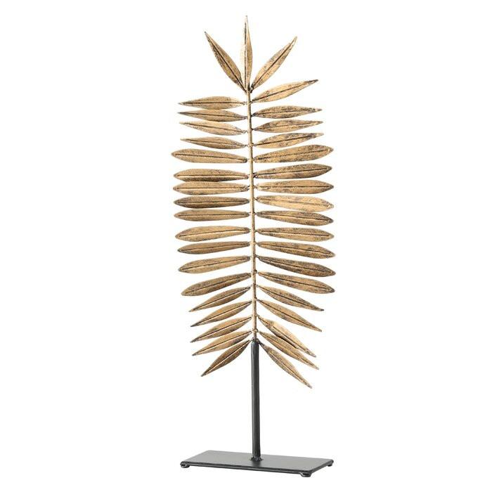 Decoratiune, metal, auriu, 65 x 20 x 10 cm