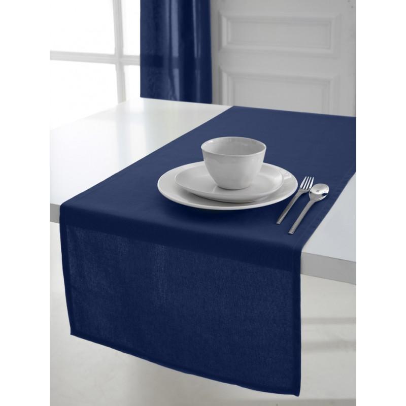 Fata de masa, 100% bumbac, 50 x 150 cm, bleu