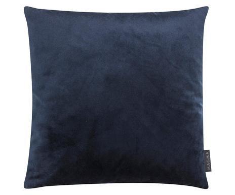 Față de pernă Lily din catifea, albastru închis, 40x40 cm