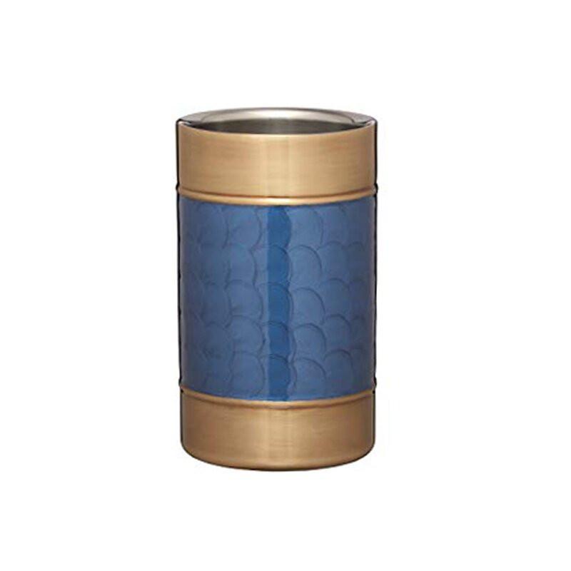Frapiera pentru vin Barcraft cu perete dublu, albastru / auriu imagine 2021 chilipirul zilei