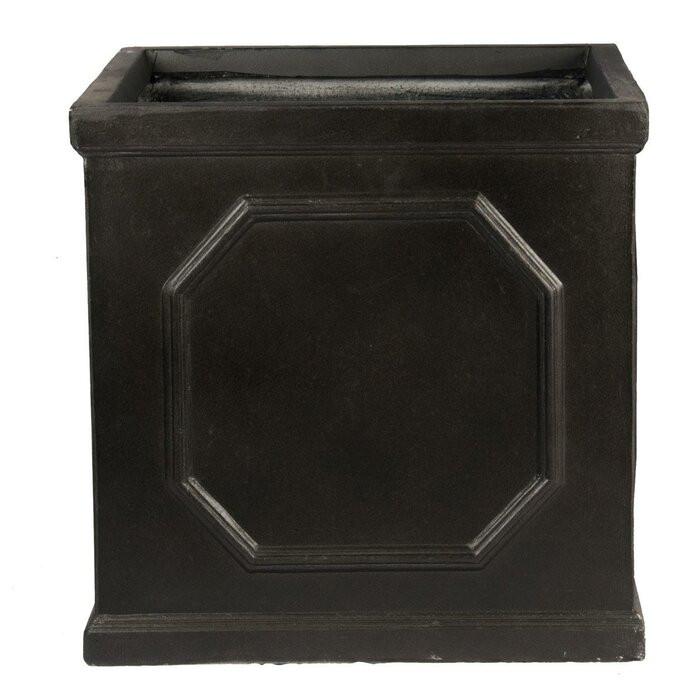 Ghiveci Heritage, Negru, 22 x 22 x 22 cm poza chilipirul-zilei.ro