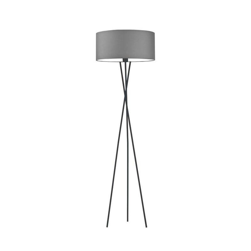 Lampadar Arless, gri/negru, 160 x 40 x 40 cm, 60w image0