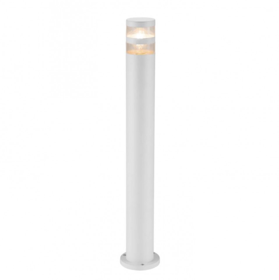 Lampadar Birk sticla acrilica / aluminiu, 1 bec, alb, 230 V