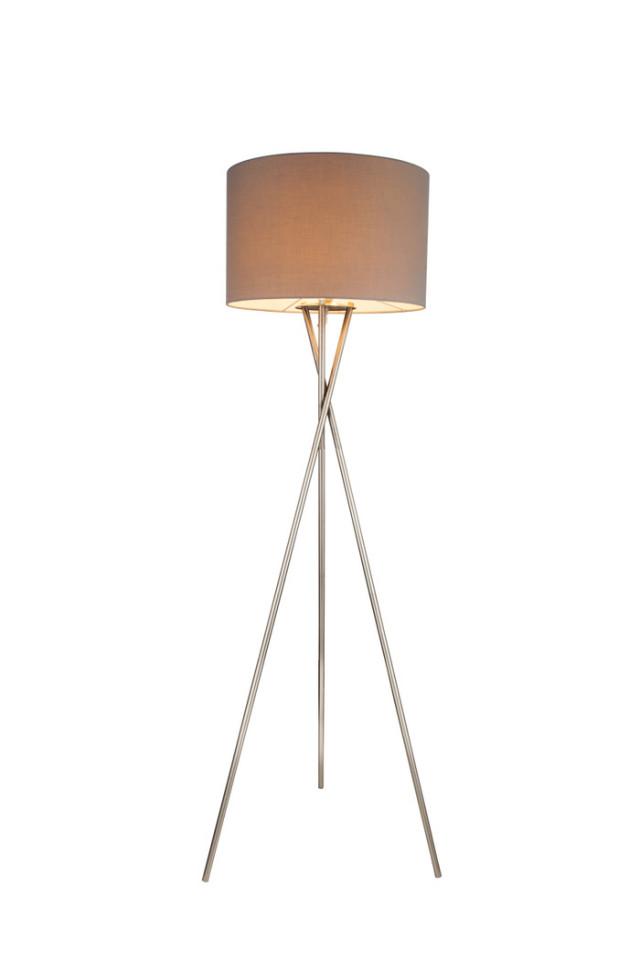 Lampadar Gustav, metal/tesatura, argintiu/gri, 54 x 160 cm, imagine 2021 chilipirul zilei