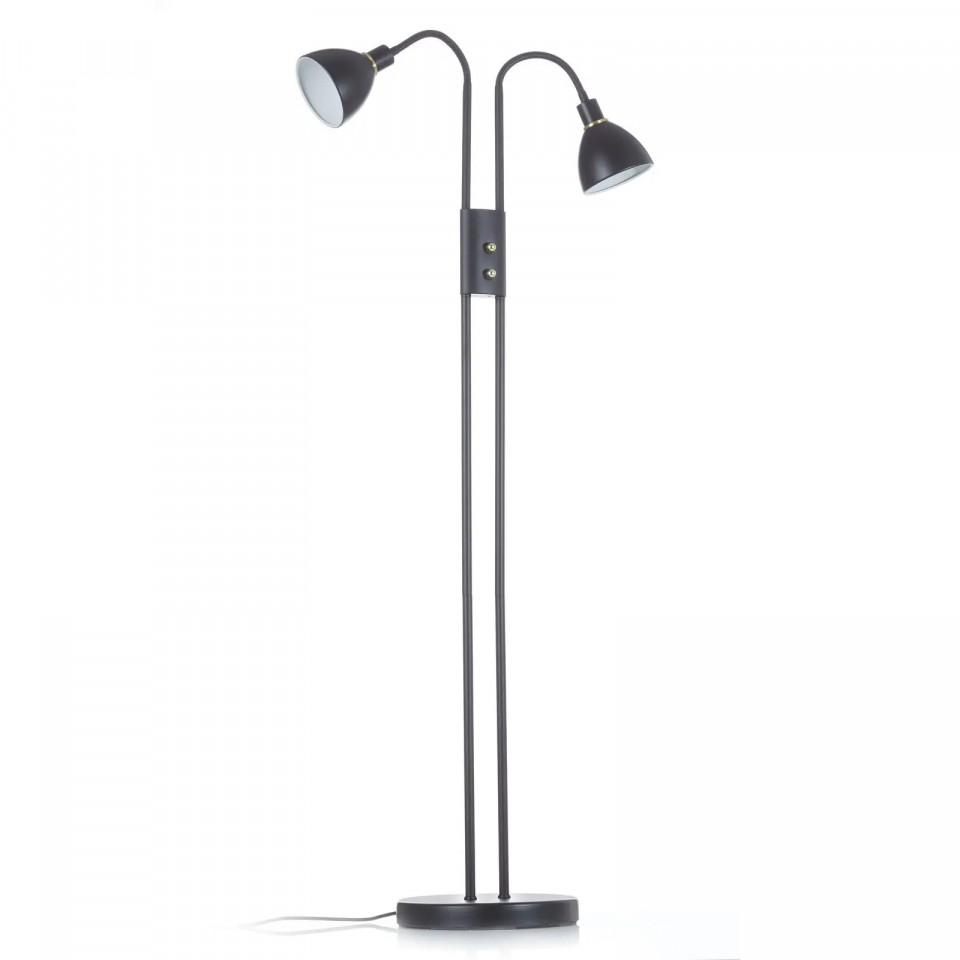 Lampadar Ray VI, metal, negru, 52 x 164 x 39 cm imagine chilipirul-zilei.ro