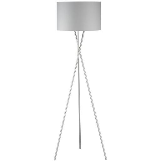 Lampadar Wotan, metal/textil, argintiu, 54 x 160 x 54 cm, 60w imagine 2021 chilipirul zilei