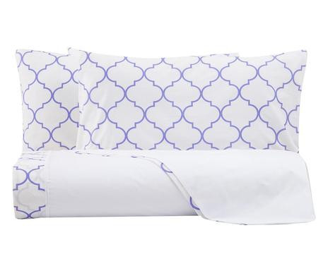 Lenjerie de pat Aramis alb / violet imagine chilipirul-zilei.ro