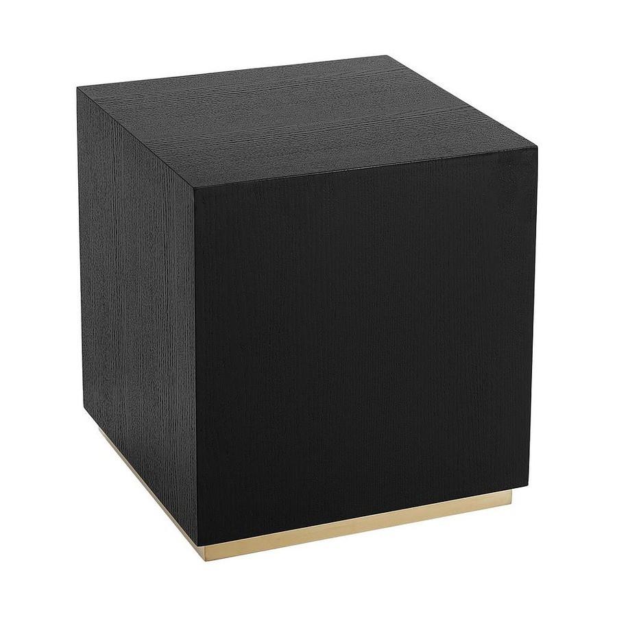 Masa de cafea Clarice, negru, 45 x 45 cm imagine chilipirul-zilei.ro