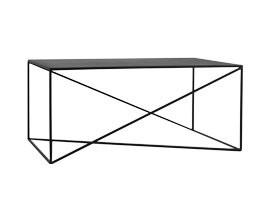 Masa de cafea Quiana, metal, neagra, 45 x 100 x 60 cm poza chilipirul-zilei.ro