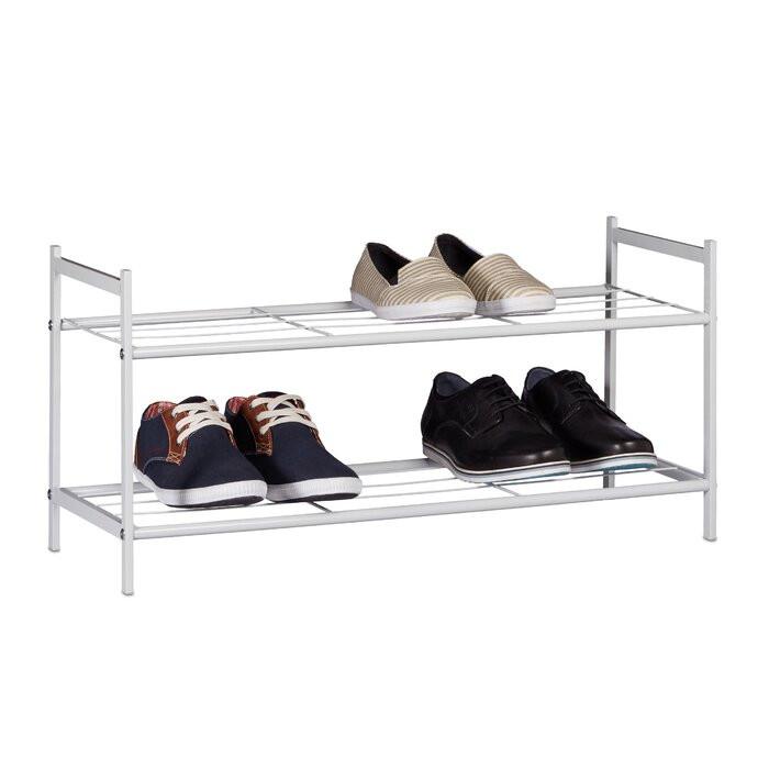 Pantofar, metal, alb, 33,5 x 69,5 x 26 cm