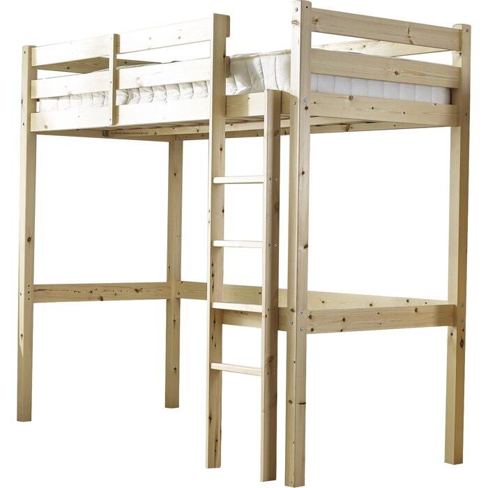 Pat supraetajat Chester, lemn, maro, 185 x 98 x 212 cm