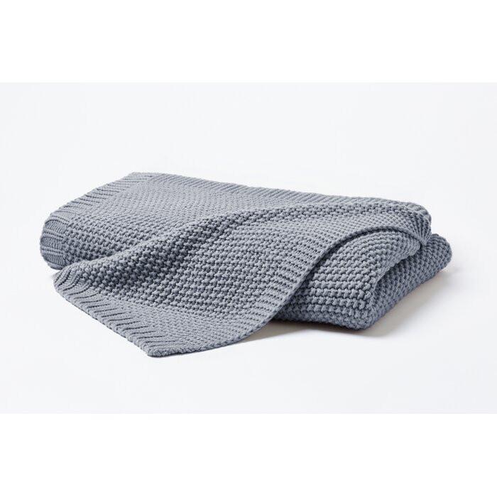 Pătură Koa, acrilic, gri, 130 x 170 cm