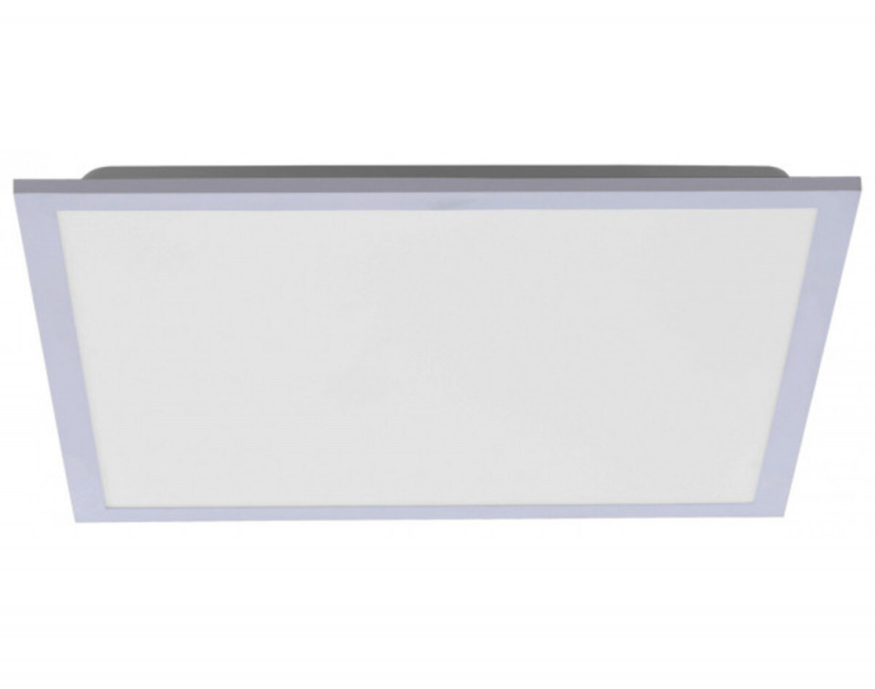Plafoniera Flat II, metal/plastic, alba, 46 x 7 x 46 cm, 18w chilipirul-zilei 2021