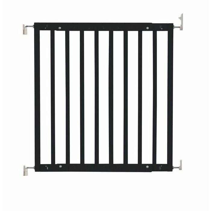 Poartă de siguranță Ivar, negru, 75,5 x 1,5,5 x 4,5 cm
