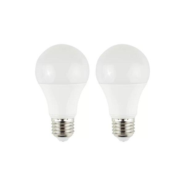 Set 2 becuri E27 LED GLS, 10 wați putere