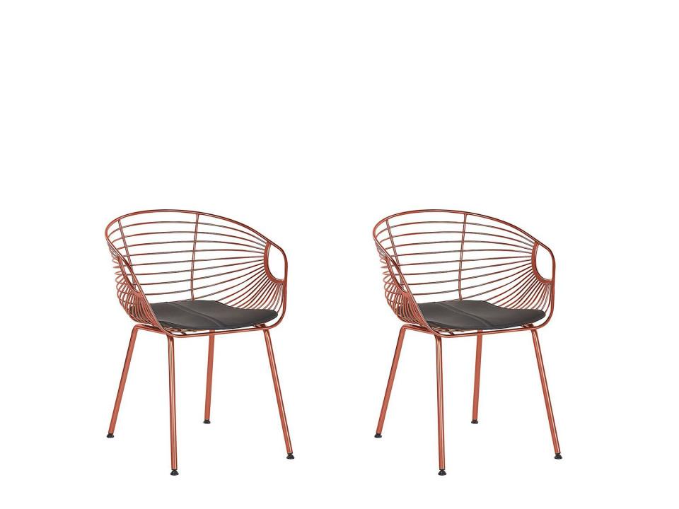 Set de 2 scaune Hoback, metal, cupru, 60 x 56 x 79 cm image0