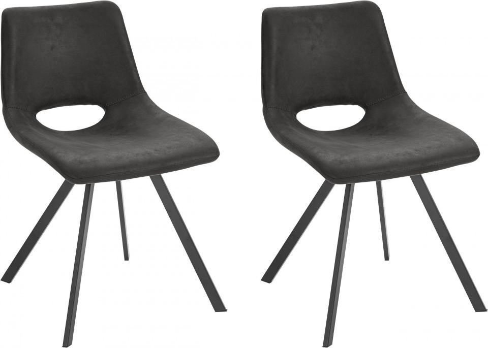 Set de 2 scaune Leon - antracit