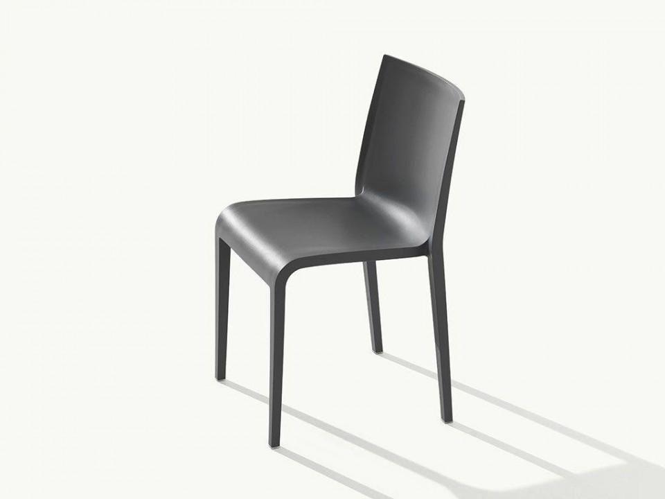 Set de 2 scaune Nassau, polipropilenă, gri 2021 chilipirul-zilei.ro