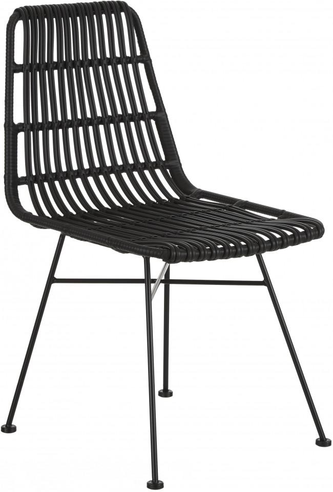 Set de 2 scaune ratan Costa, negru/negru title=Set de 2 scaune ratan Costa, negru/negru