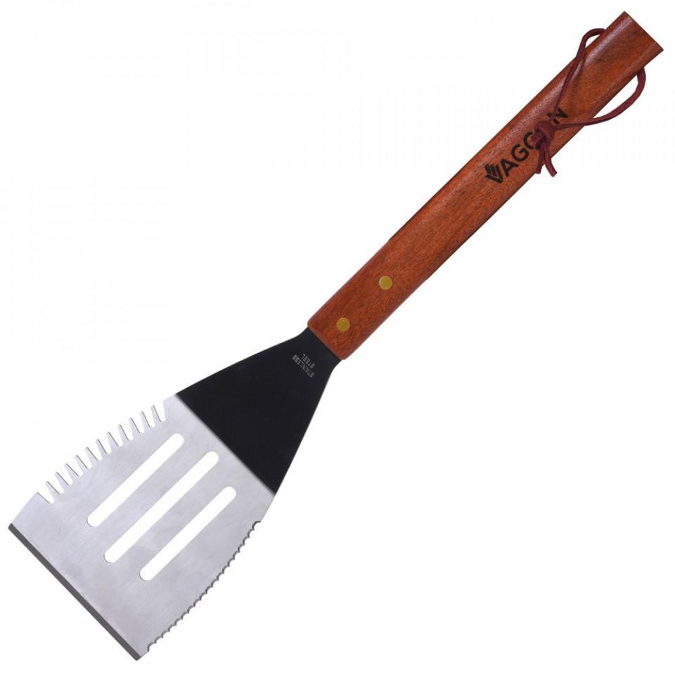 Set de 2 spatule pentru gratar Karll cu maner din lemn imagine chilipirul-zilei.ro