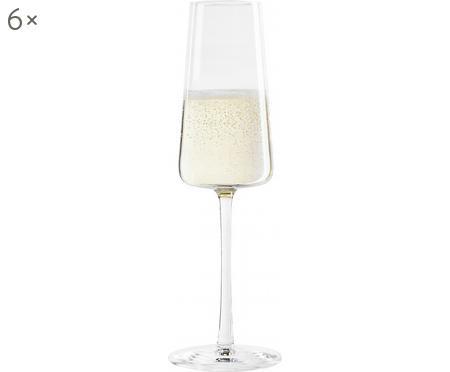 Set de 4 pahare de șampanie din cristal, 240ml