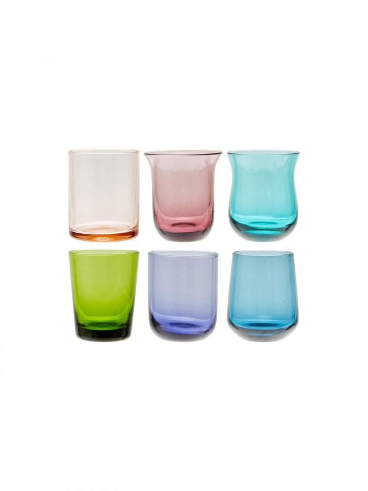 Set de 6 pahare Desigual, sticla, multicolor