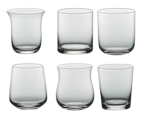 Set de 6 pahare Diseguale transparente, 8x10cm imagine chilipirul-zilei.ro