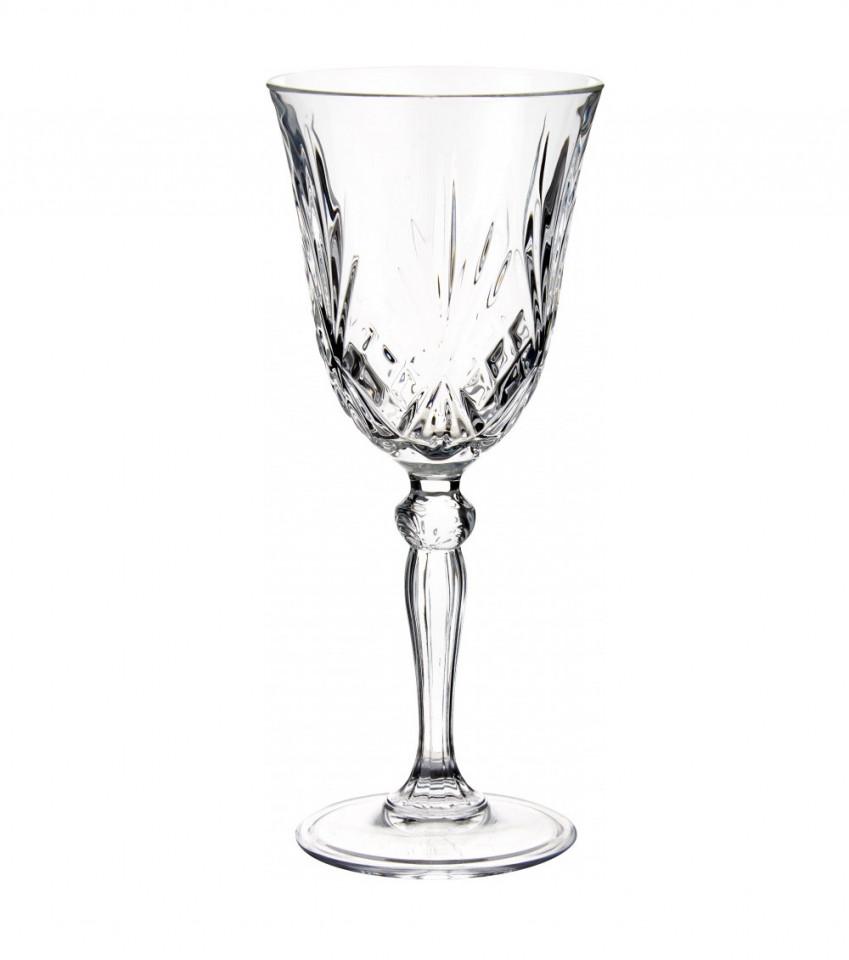 Set de 6 pahare Melodia, cristal, 19 x 8 cm