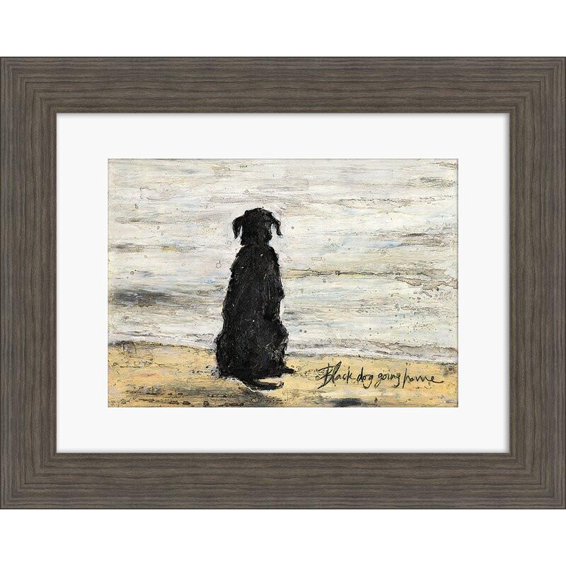 Tablou 'Black Dog Going Home', 40 x 50 cm poza chilipirul-zilei.ro