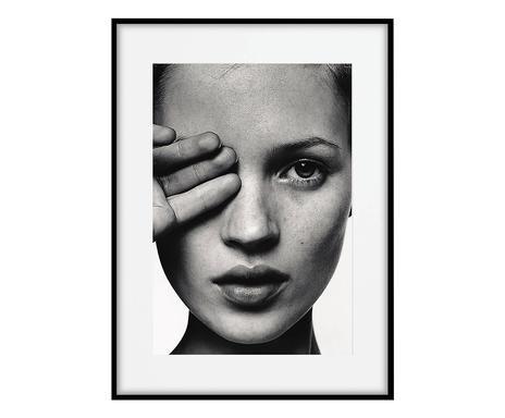 Tablou Kate Moss Face, 50x70 cm poza chilipirul-zilei.ro