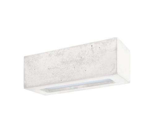 Aplica Block II, ceramica/sticla, alba, 31 x 10 x 14 cm imagine