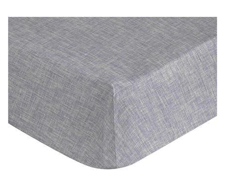 Cearsaf pat cu elastic Linen gri, 175x200 cm chilipirul-zilei 2021