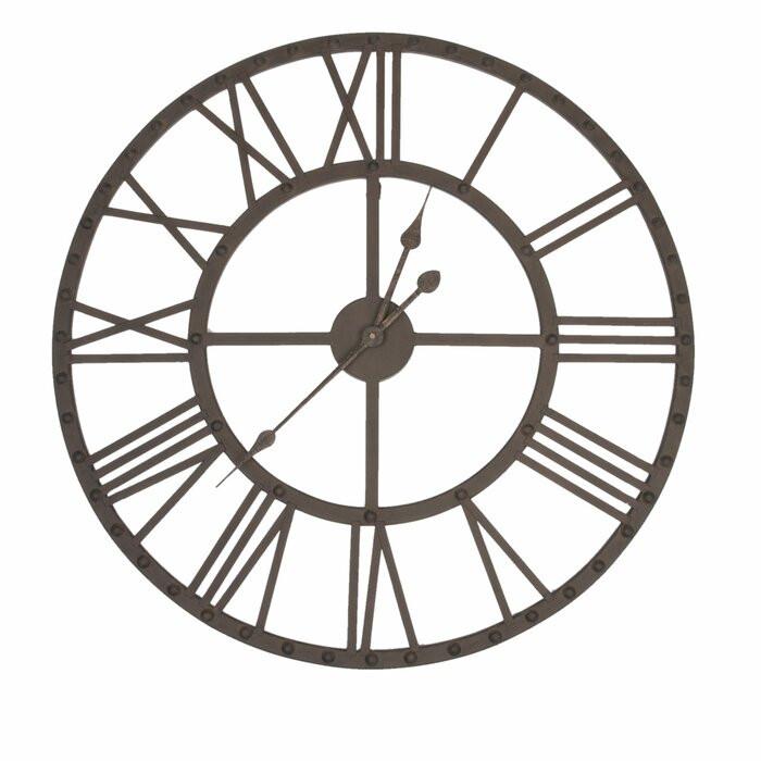 Ceas de perete Beliveau XXL, metal, 70 x 70 x 5 cm