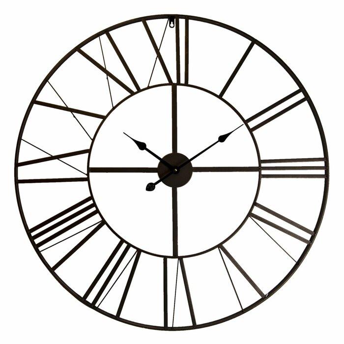 Ceas de perete Gustave XXL, negru, 50 x 50 cm chilipirul-zilei.ro