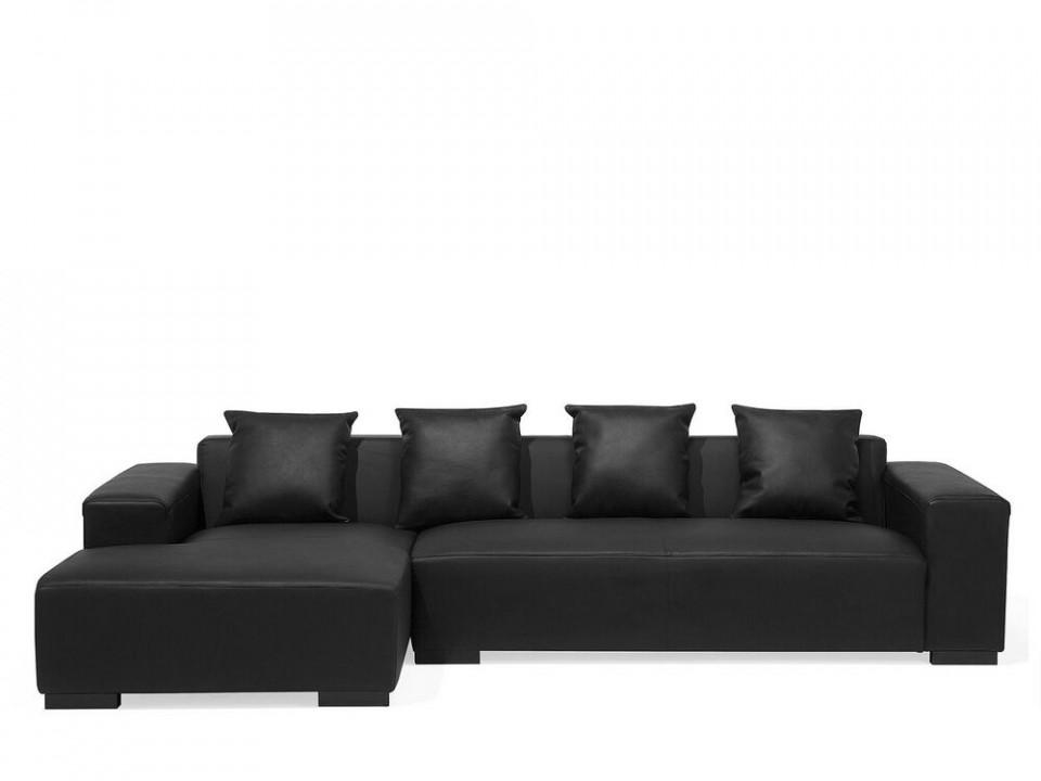 Coltar Lungo R, piele, negru, 285 x 160 cm chilipirul-zilei 2021