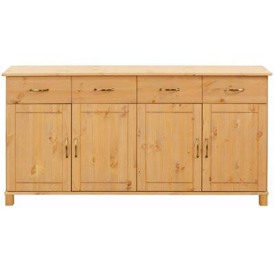 Comoda Finbar din lemn masiv, 77 x 156 x 34 cm title=Comoda Finbar din lemn masiv, 77 x 156 x 34 cm
