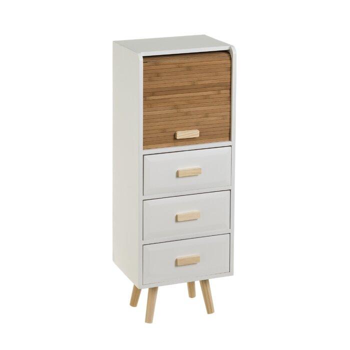 Comodă Hess cu 3 sertare din lemn masiv, 83 x 30 x 25cm
