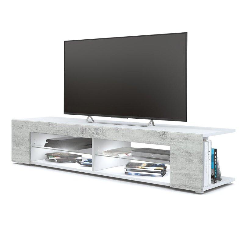 Comoda TV 60  Vladon, alb, 134 x 39 cm