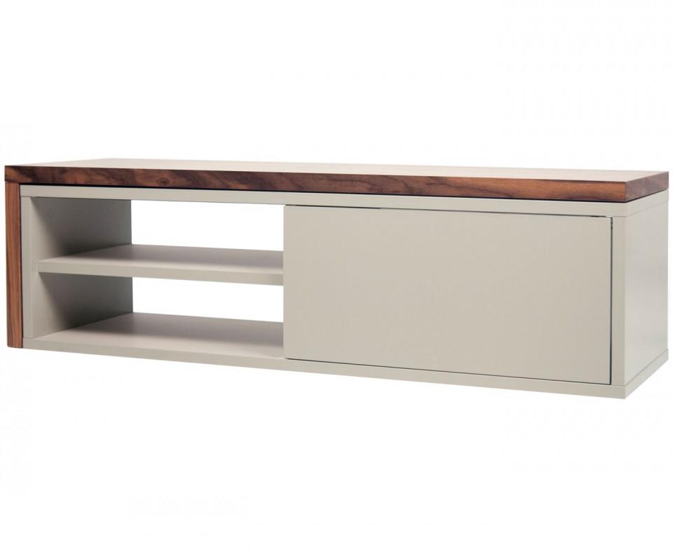 Comodă TV Lieke cu ușă glisantă, 110 x 32 x 35cm