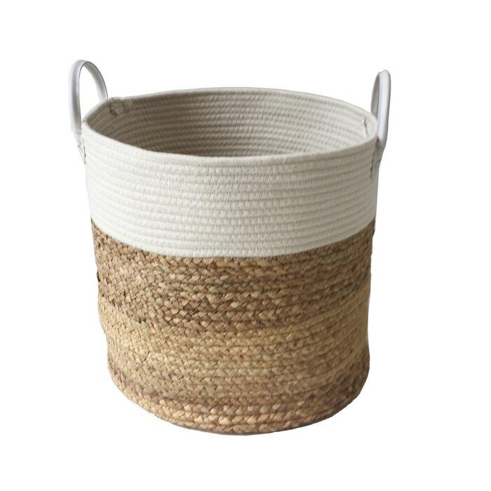 Cos de rufe tesut, bej, 37 x 35 cm imagine chilipirul-zilei.ro