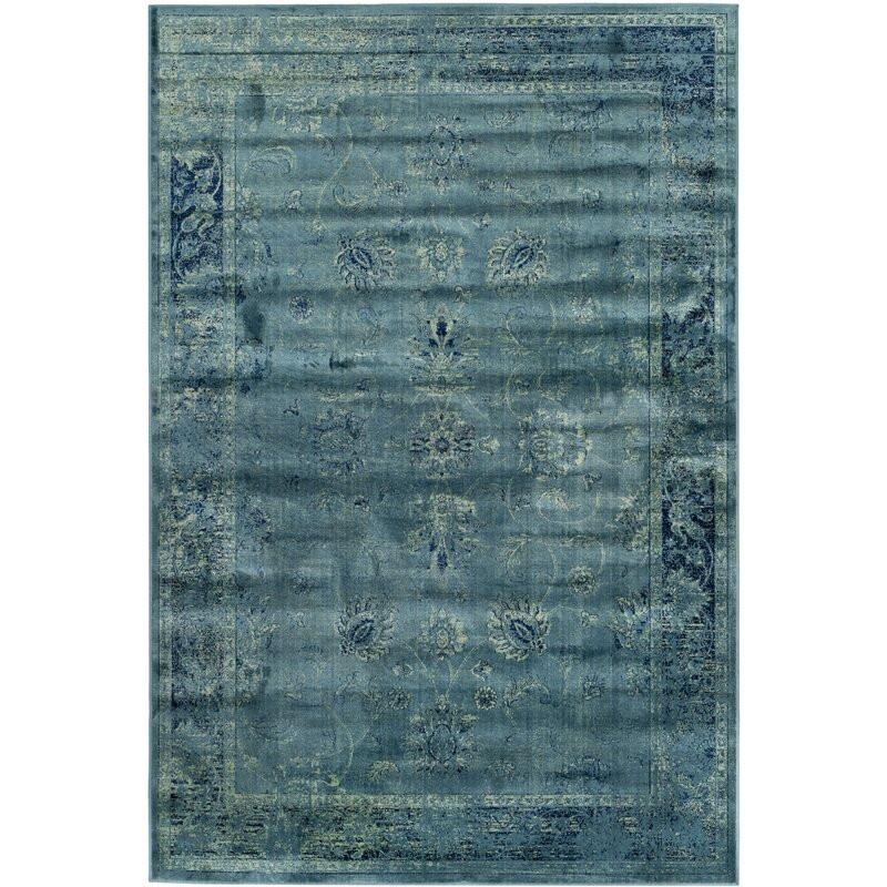 Covor Drumcrow, Turcuaz 182 x 182 cm poza chilipirul-zilei.ro