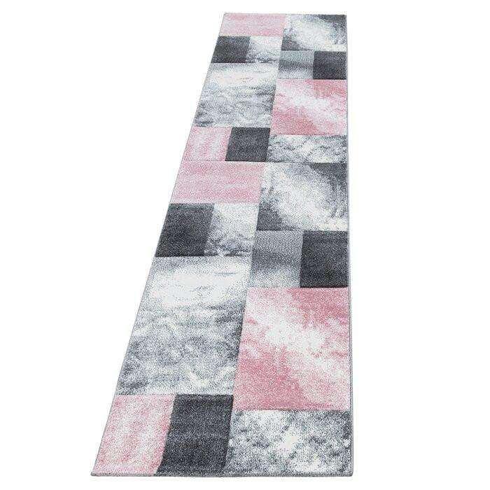 Covor Eliam, roz/gri, 80 x 300 cm