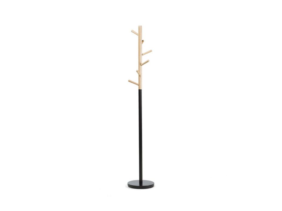 Cuier AUBUM, lemn/metal, maro/negru, 170 x 29 x 29 cm poza chilipirul-zilei.ro