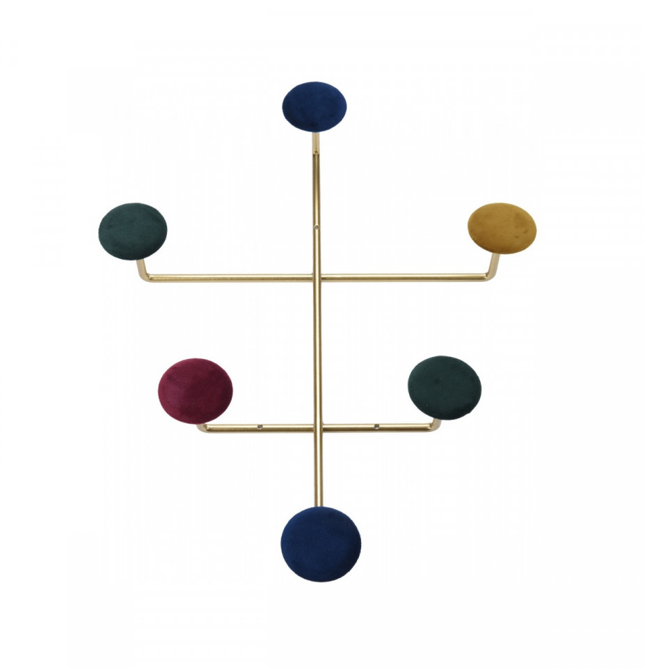 Cuier Karll metal/catifea, 41 x 33 cm