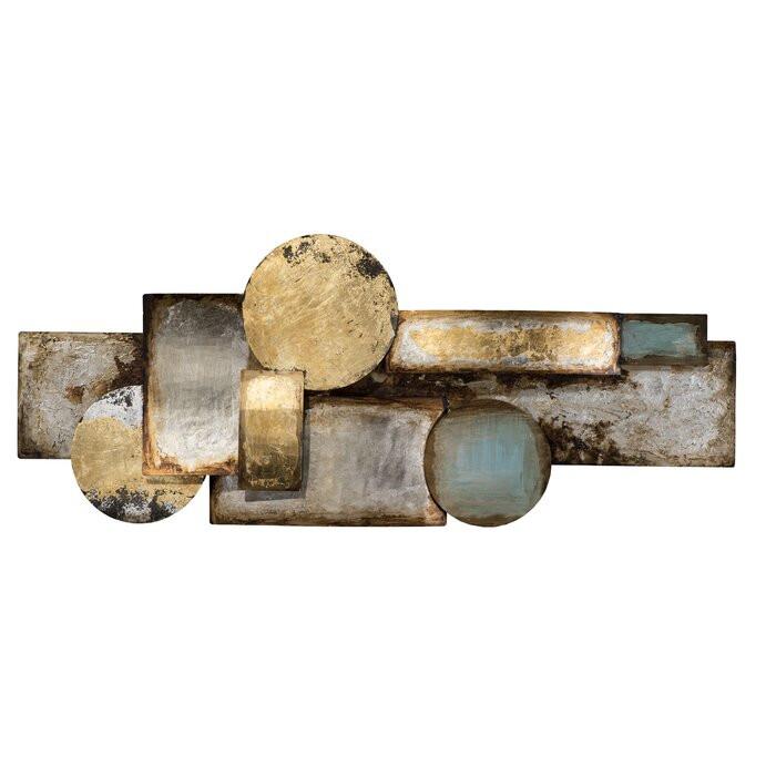 Decor de perete, metal, 40 x 120 cm