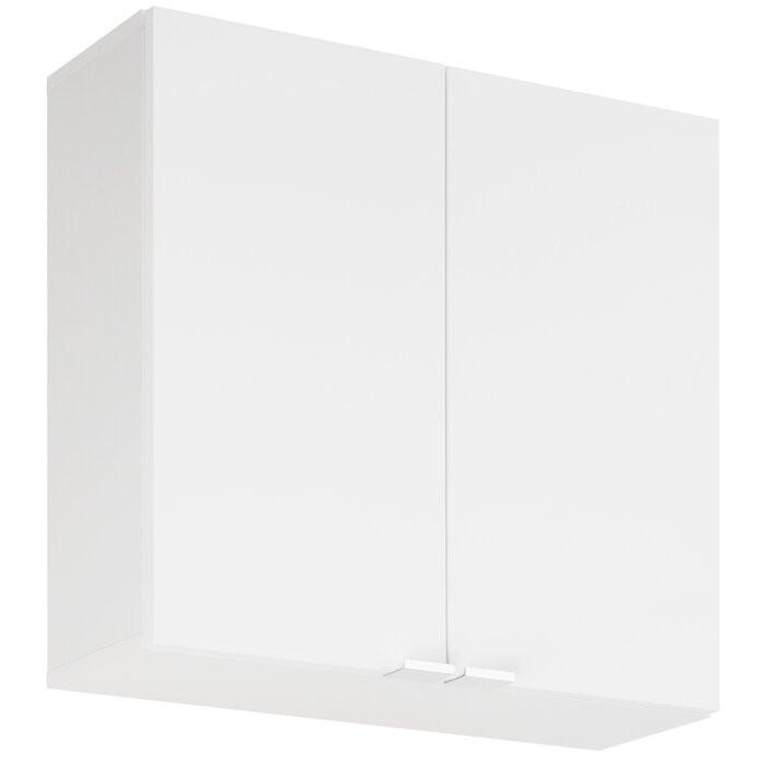 Dulap baie, lemn, alb, 60 x 60 x 15 cm