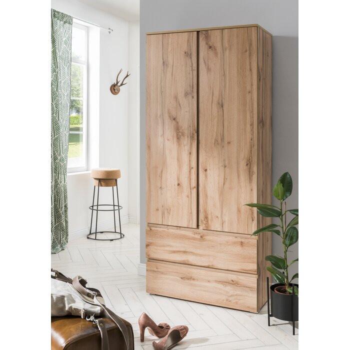 Dulap cu 2 uși Laurinda, maro, 191 x 80 x 40 cm