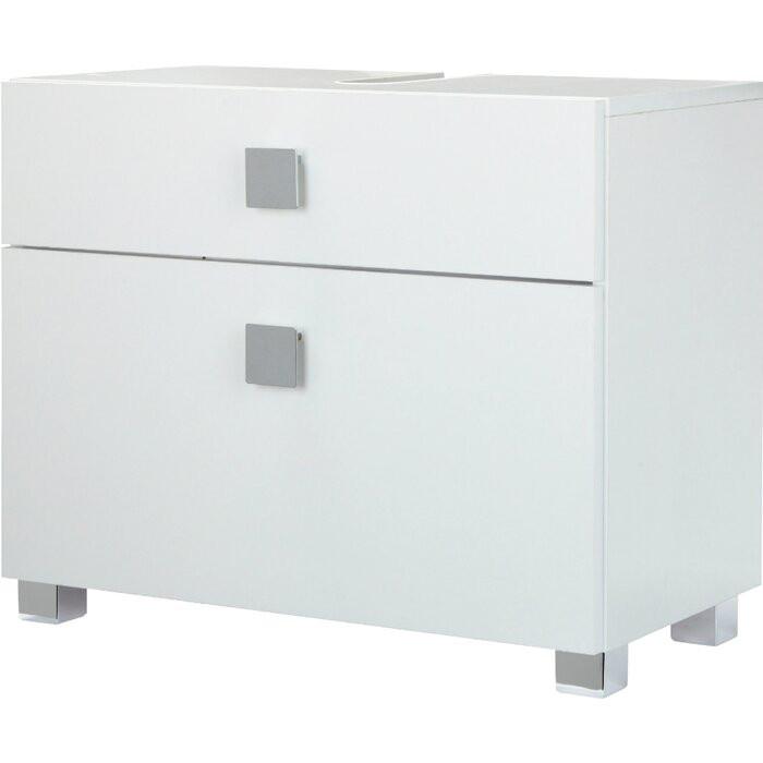 Dulap pentru baie, lemn, alb, 53 x 65 x 34,5 cm chilipirul-zilei.ro