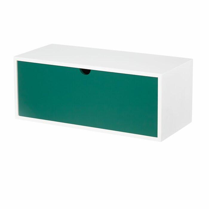 Etajera, lemn, alb/verde, 16 x 18 x 40 cm poza chilipirul-zilei.ro