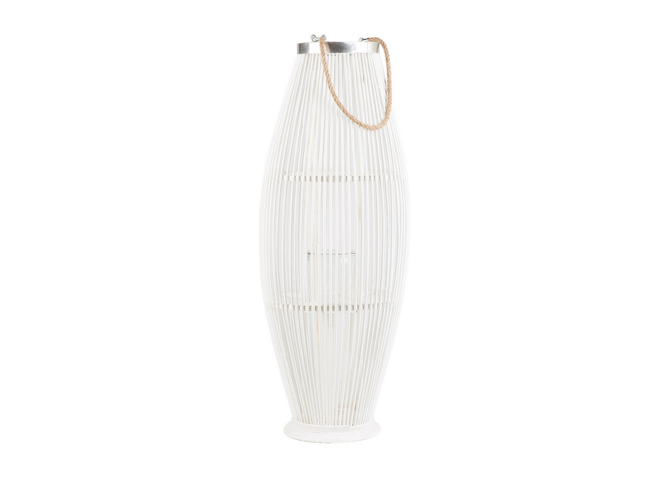 Felinar TAHITI, lemn, alb, 84 cm chilipirul-zilei.ro